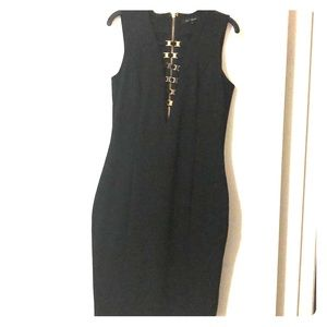 Black midi dress size L